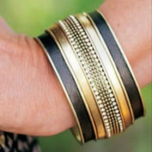 Silpada Leather Together cuff bracelet